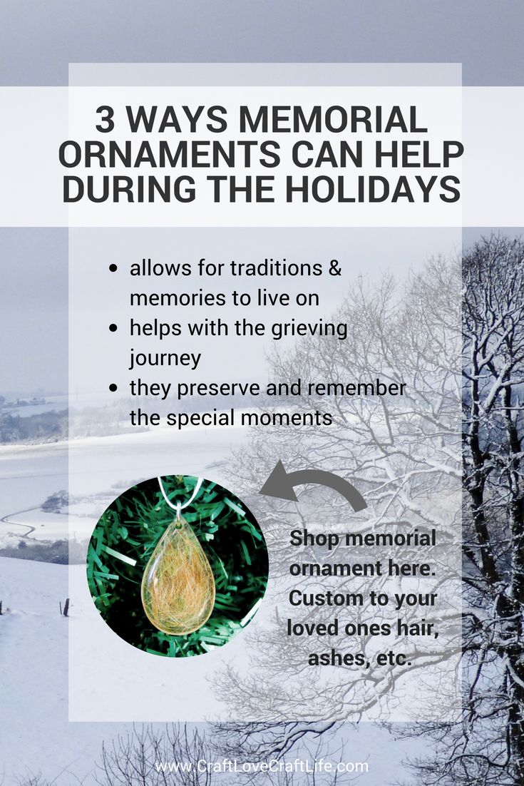 How memorial ornaments can help you | Holidays without loved ones