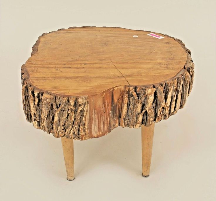 """American Country Rustic Adirondack Style (19th Cent.) """"Tree Trunk"""" Coffee Table  #AmericanCountry"""