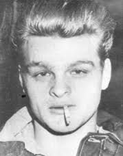 """1/28/1958, Charles Starkweather, a 19-yr.old high-school dropout from Lincoln, Nebraska, and his 14-year-old girlfriend, Caril Ann Fugate, kill a Lincoln businessman, his wife and their maid, as part of a murderous crime spree that left 10 people dead. The killer couple's deadly road trip came to an end the following day, when they were arrested. The crimes later inspired Terence Malick's 1973 film """"Badlands,"""" starring Martin Sheen and Sissy Spacek, and Bruce Springsteen's 1982 song…"""
