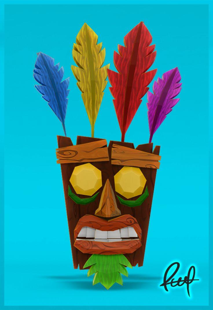 Echa un vistazo a mi proyecto @Behance: \u201cAku Aku. Crash Bandicoot. Render. Raul®\u201d https://www.behance.net/gallery/48461469/Aku-Aku-Crash-Bandicoot-Render-Raul