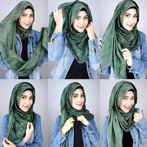 Ini Dia Tutorial Hijab Simple untuk Para Remaja Kekinian!!! - Mengkreasikan hijab yang simple hanya ada beberapa langkah saja, tidak membutuhkan waktu lama...