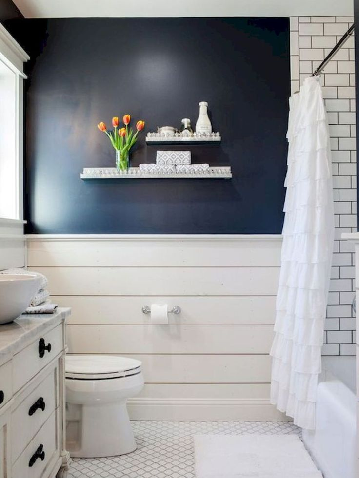 110 spectacular farmhouse bathroom decor ideas 90