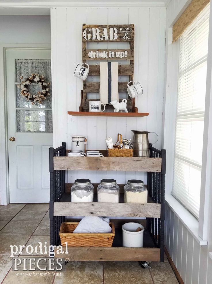 Repurposed Changing Table Cart use for most any room of the house by Prodigal Pieces | prodigalpieces.com