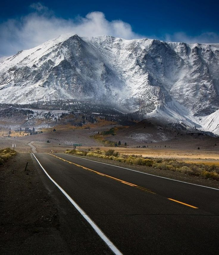 #Winter's best. Breathtaking view on the road to #MammothMountain, #Ski Resort, and Hot Springs!