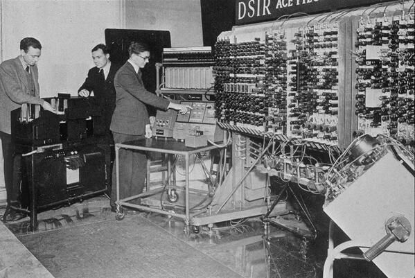 *-* 1950 - The first computer in England. Yep, there were HUGE. It's amazing now we have a computer in every pocket!