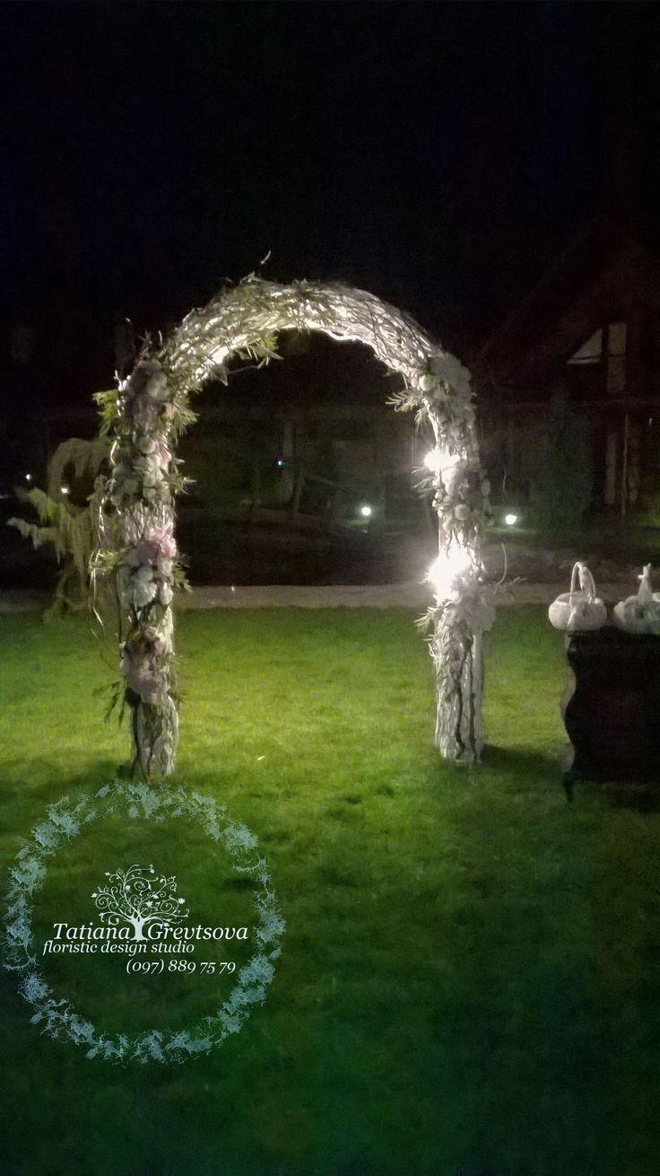 Свадебная церемония - ночная фотозона.