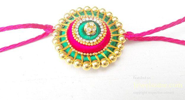 Beautiful handmade rakhi tutorial #jewelry