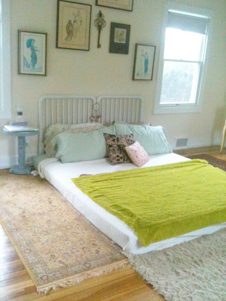 2 floor bed www thevintagesouls com first bedroom setup after move has changed a lot since but floorbed 1753