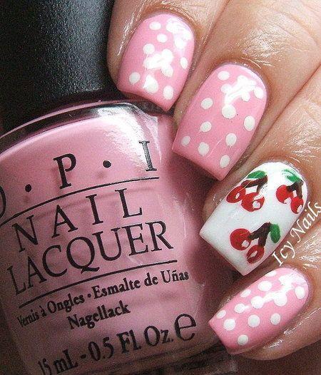 15 Cute Pink Summer Nail Art Designs, Ideas, Trends & Stickers 2014