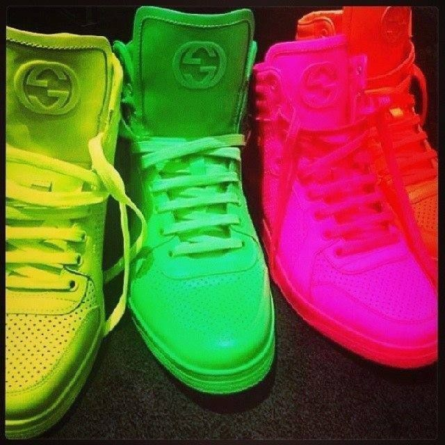 #Gucci #neon #sneakers