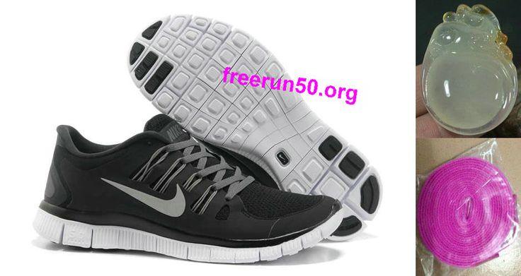 Mens Nike Free 5.0 Black Grey Silver Shoes