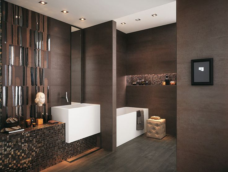 We Couldn T Help But Swoon Over These Bathroom Designs From Fapceramiche That Shine With Lavish Style From The Top Of Their Seam To Seam Tiled Walls