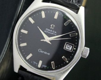 1970s Omega Geneve Automatic Black Day and Date by VintageLines
