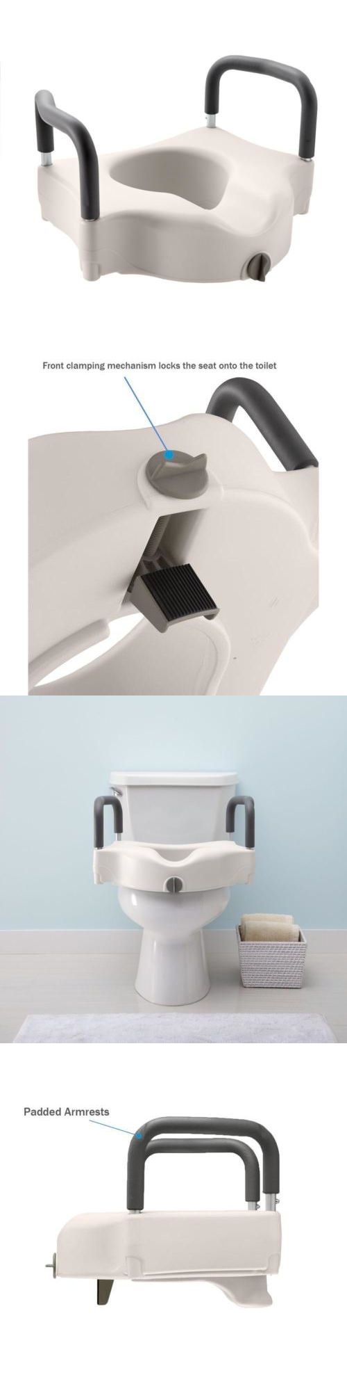 Americans with disabilities act ada coastal bath and kitchen - Toilet Seats Elevated Toilet Seat Add Height Disabled Bathroom Safety Padded Hand Support