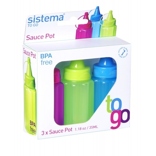 Sauce to Go Bottles Set of 3 by Sistema