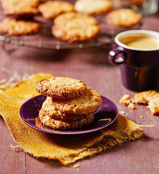 Chewy, nutty and absolutely addictive, they're also great served sandwiched around vanilla ice-cream.