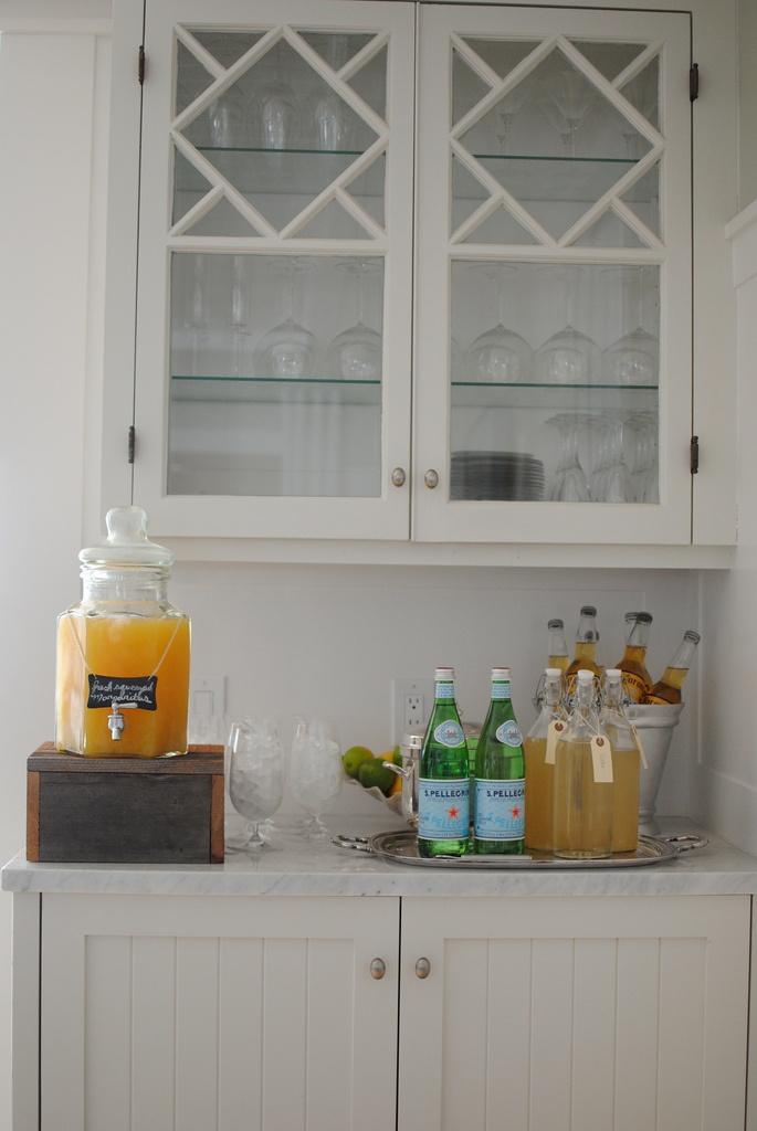 great drinks set up: Marble, Beverage Center