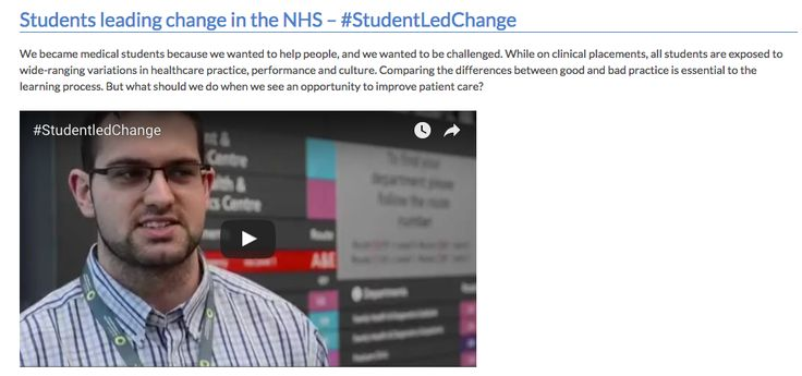 Read about the #StudentLedChange Campaign