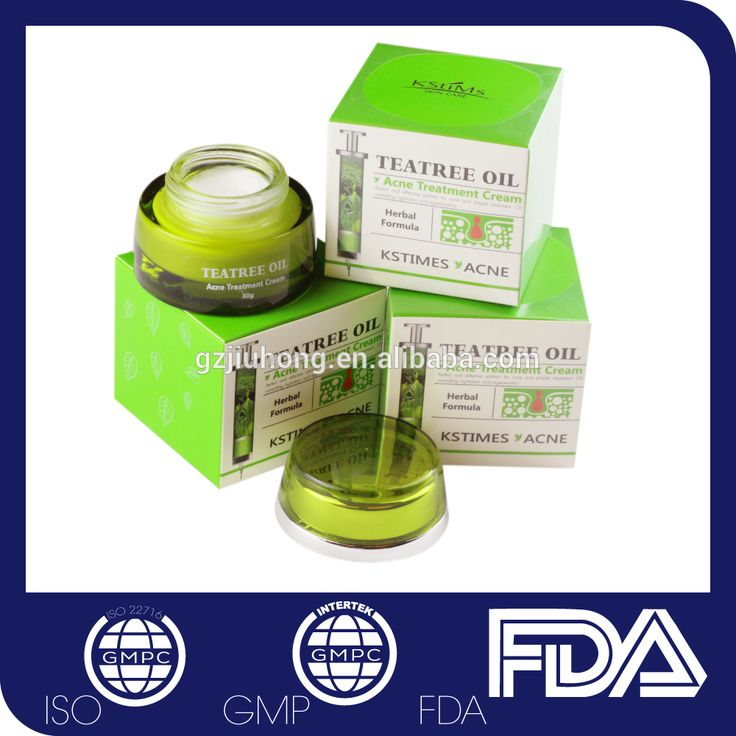 Private label green tea scar removing pimples treatment moist anti acne cream