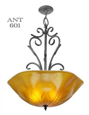 Tuscan Mediterranean Type Large Ceiling Bowl Chandelier Light Fixture (ANT-601) #vintage #reproduction #recreation #antique #art #deco #nouveau #doorknob #hardware #lighting #unique #switchplate #victorian #hinge #brass #cast #metal #eastlake #windsor #shade #crystal #glass #electrical #cover #gang #plate #pendant #arts #crafts #mission #period #decor #rail #railing #rococo #romantic #beaux #newel #post #knight #induction #grow #heat #lamp #church #gothic #goth