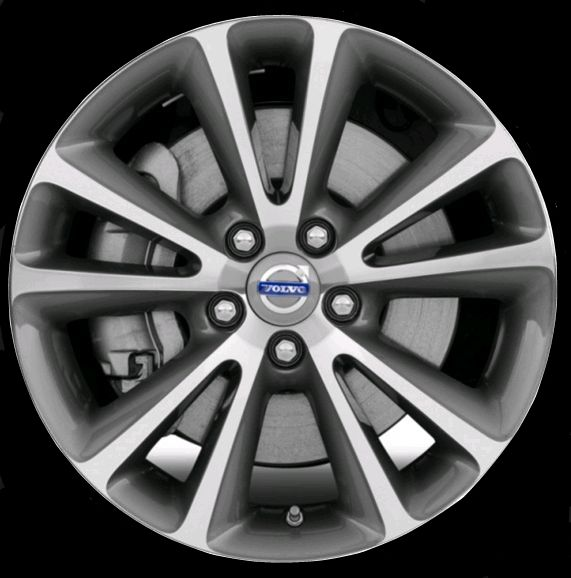 Sirona 17 x 7.5 Volvo #31280099 (color 947 Light Gray, diamond cut), Offset 45mm, 10 kg, stamped 31280005