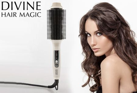 Magic Brush verwarmde stijlborstel nu slechts €17,95 | Volume, krullen of slag in een handomdraai! #magic #brush