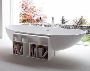 Tub: Bathroom Design, Bath Tubs, Interiors Design, Bookcas, Rexa Design, Storage Design, Bathroom Decor, Eggs Bathtubs, Bath Design