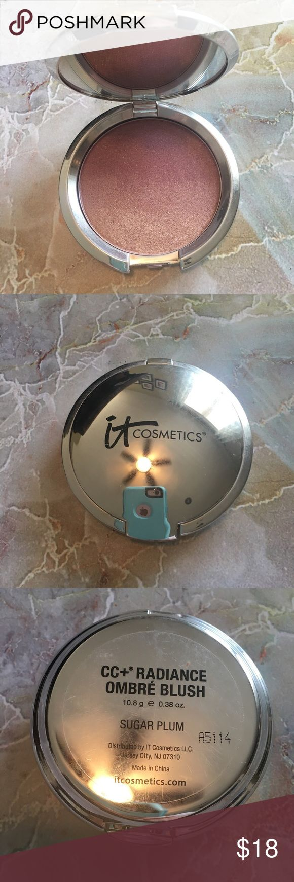 It Cosmetics Sugar Plum blush. CC+ Ombre Radiance Blush.  Lightly used.  Purchased from Ulta. It Cosmetics Makeup Blush