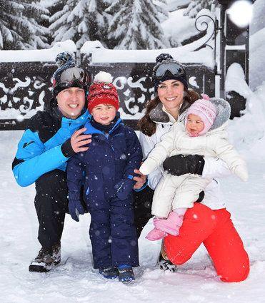 イギリス王子一家がスキー旅行