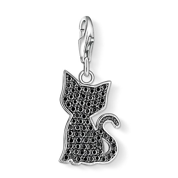 THOMAS SABO Charm Club Black CZ Kitty