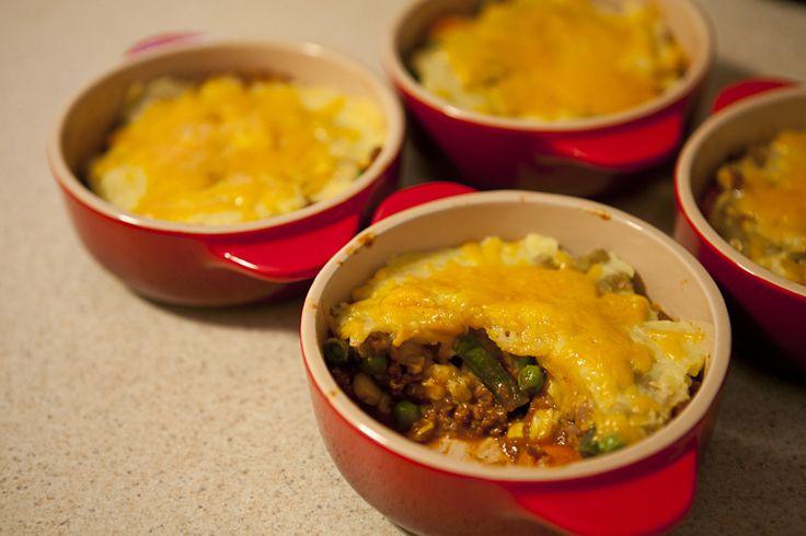Quick Shepherd's Pie Recipe in Mini Cocottes (Ramekins) - HerbOnHerbs
