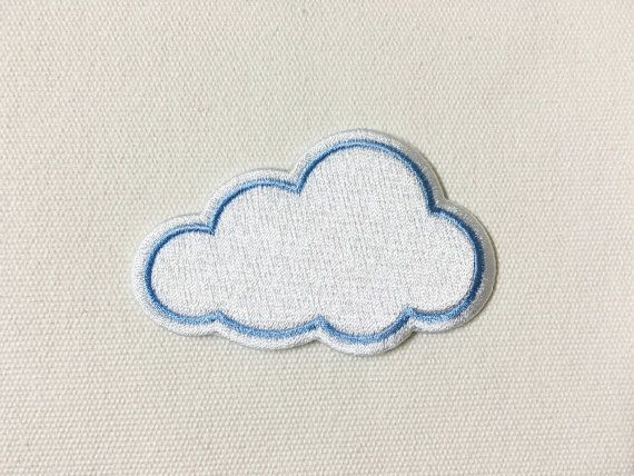 Cute Cloud Iron on Patch by SeaSandSunShop on Etsy