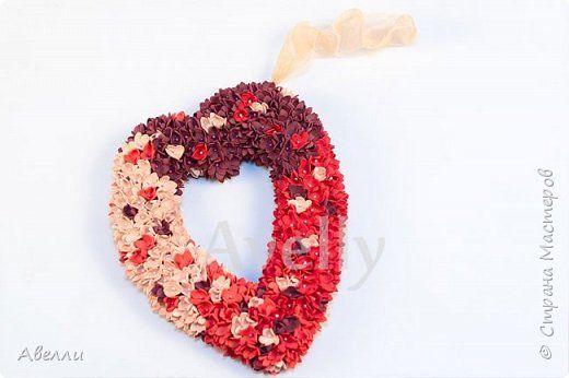 Мастер-класс Поделка изделие Валентинов день Моделирование конструирование Мастер-класс Цветочное сердце из фоамирана Фоамиран фом фото 1