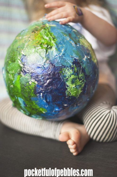 how to make paper mache planets   Enrichment Class   Making paper