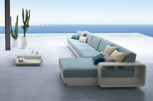 Ocean - meble ogrodowe z technorattanu zestaw wypoczynkowy - Twoja Siesta