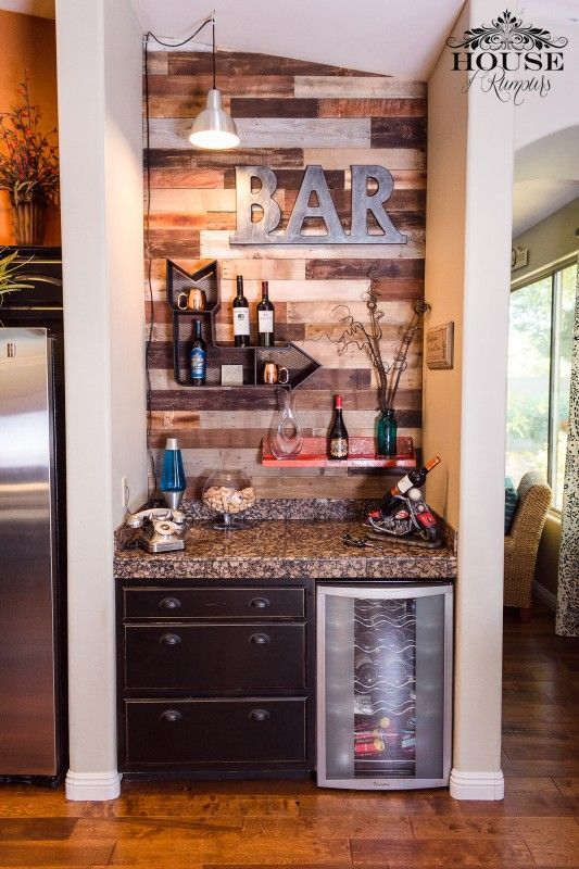 Coffee Bar With Mini Fridge And Sink