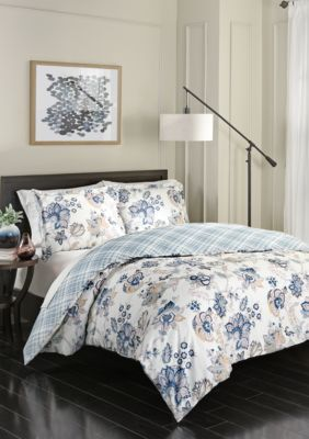 Marble Hill  Marble Hill Giselle Reversible 3-Piece Comforter Set - Multi - Queen