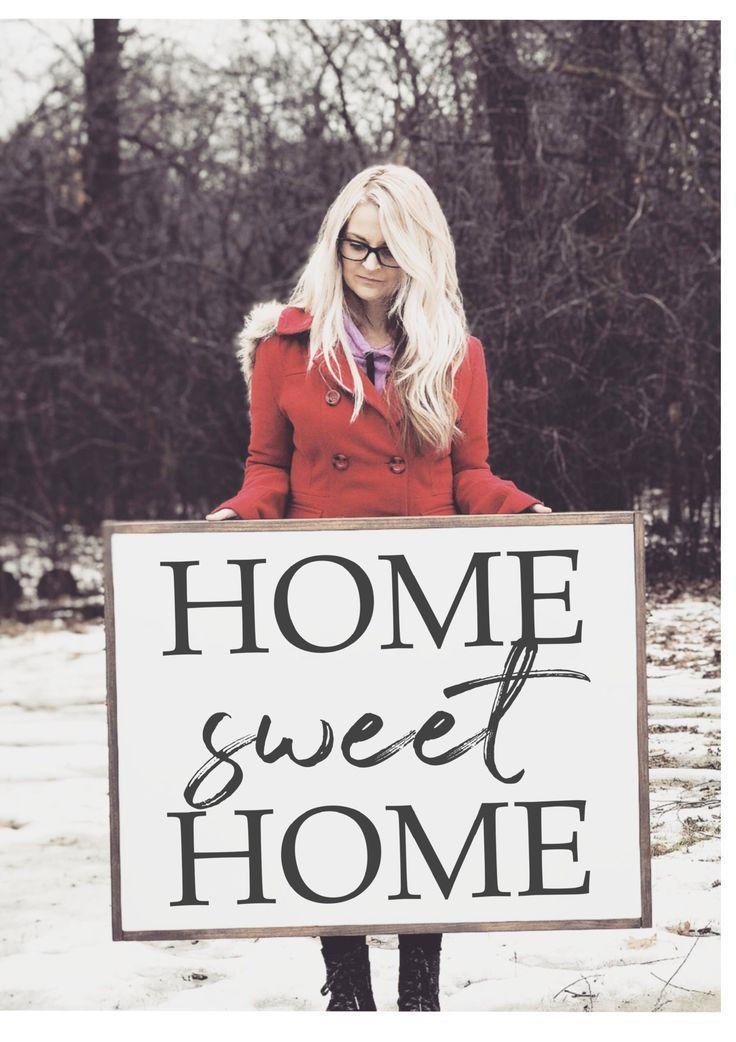 Home Sweet Home-Zeichen | Über dem Couch-Zeichen …