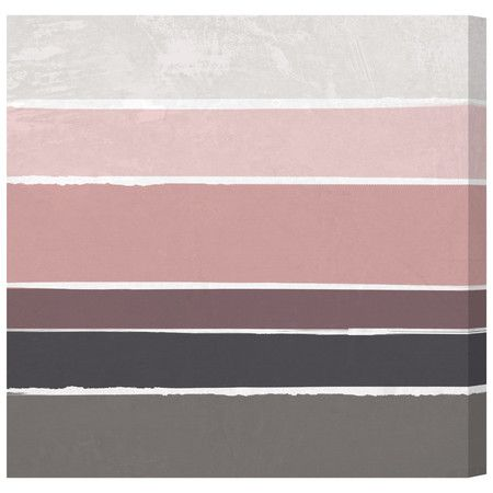 Bring a soft touch to your walls with this printed-to-order canvas art, featuring a striped design in dusky shades of pink and grey. ...