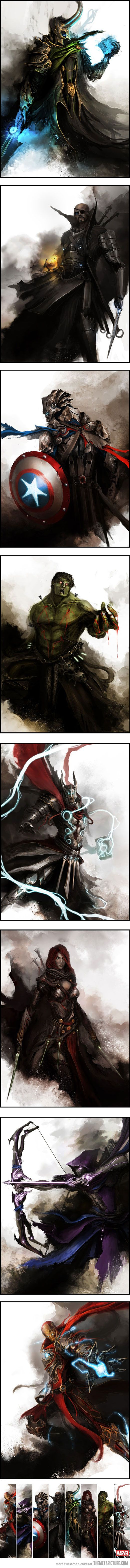 The Avengers: Medieval Fantasy Style