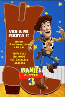 Related To Invitaciones Para Una Fiesta Vaquera Con Woody De Toy Story