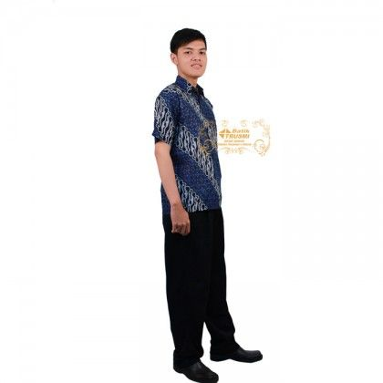 Ebatik HEM LN Lotus Biru Batik Indonesia