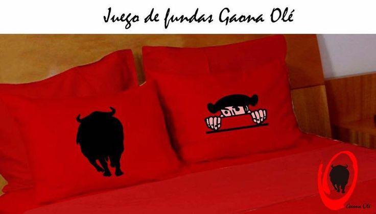 Fundas de almohada decoradas. Idea original Gaona Olé.