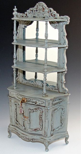 distressed dollshouse hutch ... by Gerry's Minis
