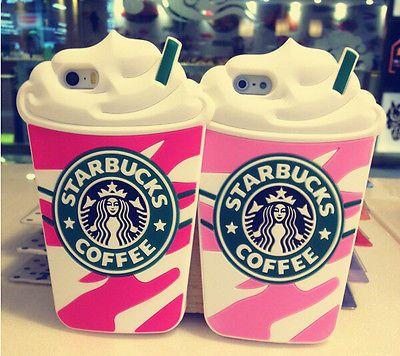 Starbucks coffee case.  Nuevo Y Elegante Taza De Café suave de protección De Silicona Funda Para Apple Iphone 5 5s 6