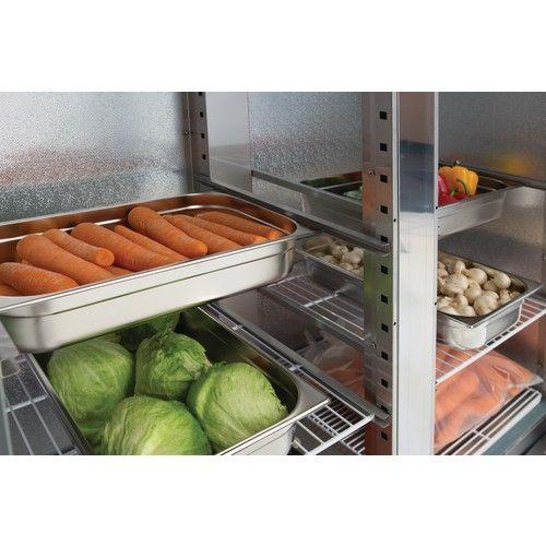 Polar Double Door Slimline Fridge Stainless Steel 960Ltr from Polar Commercial Refrigeration