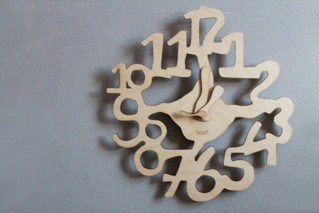 Cijfer klok van Studio Soof