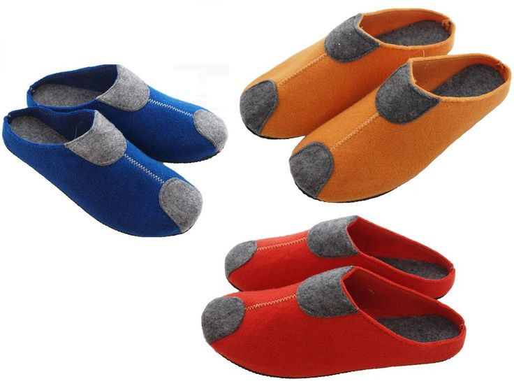 Womens Ladies Virgin Sheep's Wool Felt Slippers Moccasins Mules #Unbranded #Moccasins