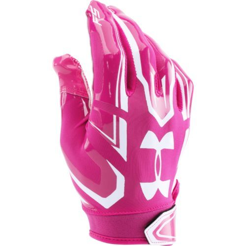 Under Armour Adults' F5 Football Gloves Pink/White - Football Equipment, Football Equipment at Academy Sports