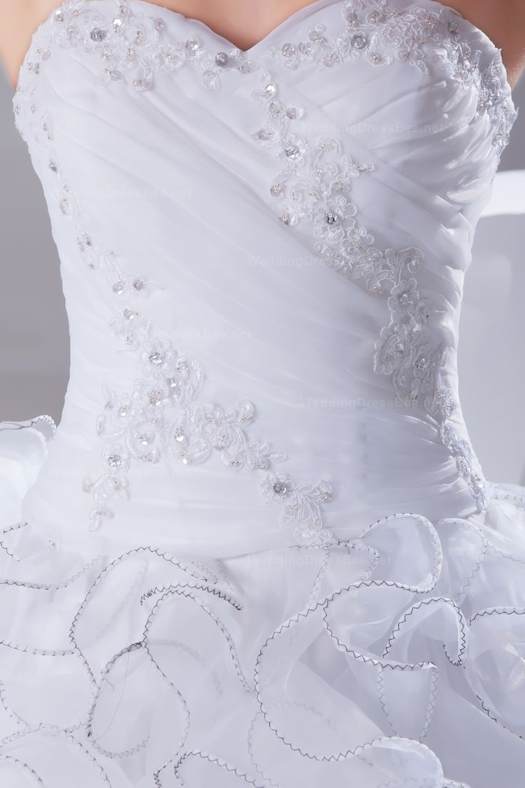 Luxurious and dramatic sweetheart ball gown wedding dress